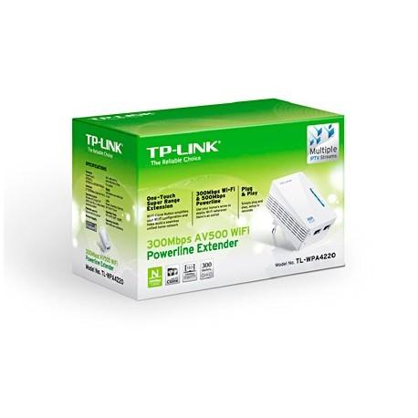 Adap.Powerline TP-Link 500Mbps c/ Wir. N 300Mbps