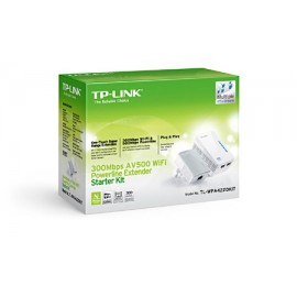 Kit 2 Adap PowerLine TP-Link 500Mbps c/Wir n 300Mbps