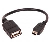 Cabo de Dados USB 2.0 A mini 05P a OTG 0.20m - AK 3883