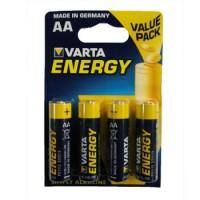 Pilhas Alcalinas Varta Energy LR6 AA 1.5V 2600mAh 4un - 1961030