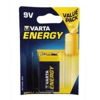 Pilha Alcalina Varta Energy 6LR61 9V 530mAh - 1un - 1961025